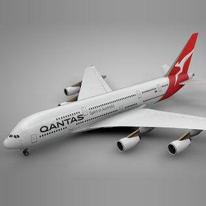 airbus a380 qantas new 3D