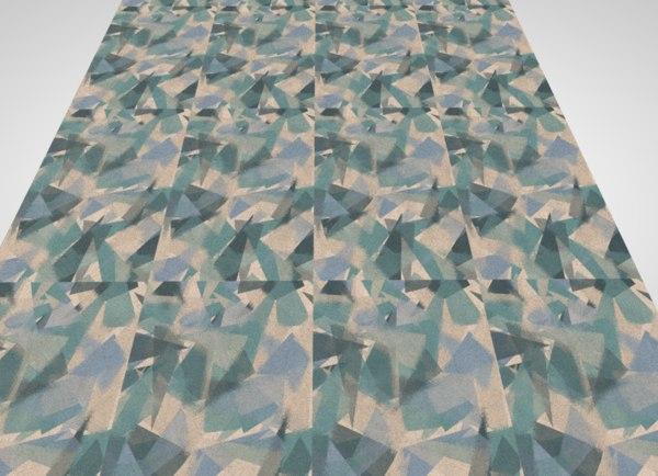 3D rug floor tile