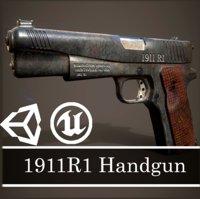 1911R1 Handgun + 2 handle types