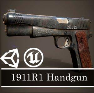 3D ready 1911r1 gun