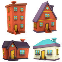 cartoon house pack model