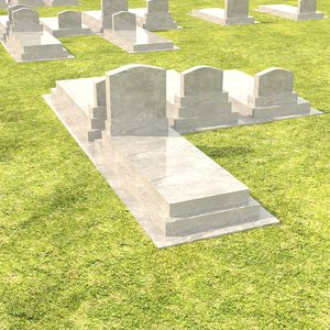 grave stone gravestone 3D model