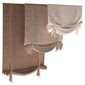 roman blinds set model