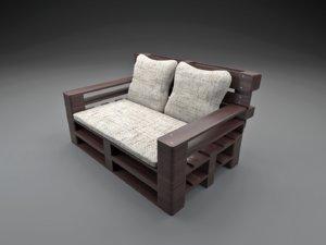 sofa pallets 3D