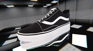 example vans shoes 3D model