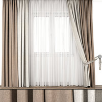 contemporary curtain 3D model