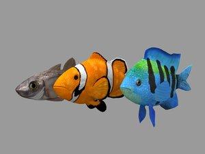 3D animations fish model