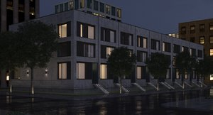 3D housing residential dusk