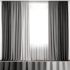curtain fabric interior 3D model