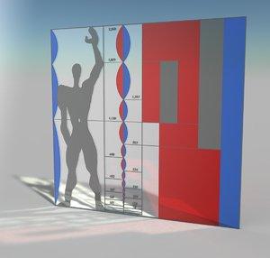 3D modulor le corbusier