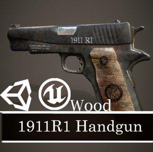 3D ready 1911r1 wood gun