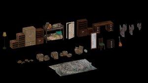 abandoned room 3D model