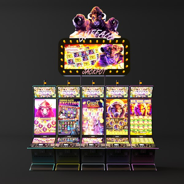 3D money slot machine model