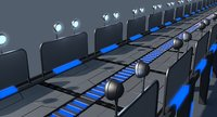 3D sci fi bridge model