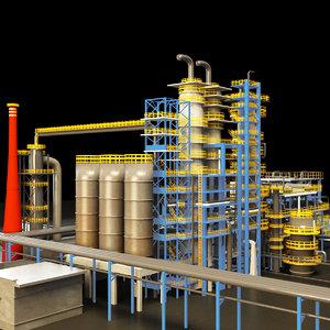 3D chemical plant