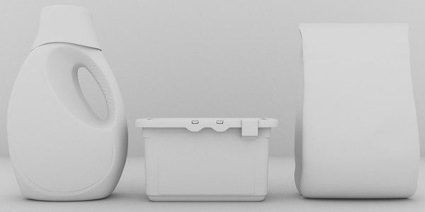 liquid detergent 3D