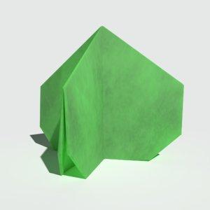 ready origami bush 3D