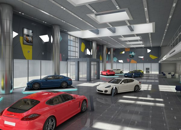 car dealership build 3D model