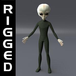 3D model extraterrestrial alien