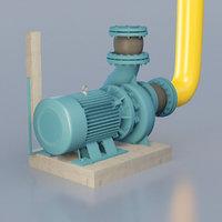 water pump 3D model