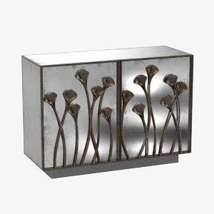 cabinet glass doors bernhardt 3D model