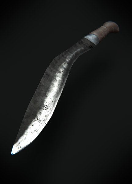 3D knife khukurii model