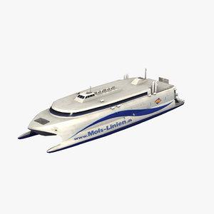 3D catamaran ferry mols linien