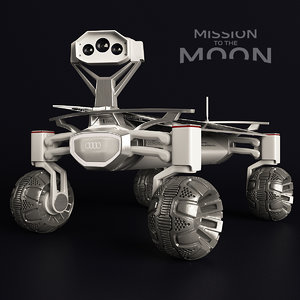 rover moon quattro 3D model