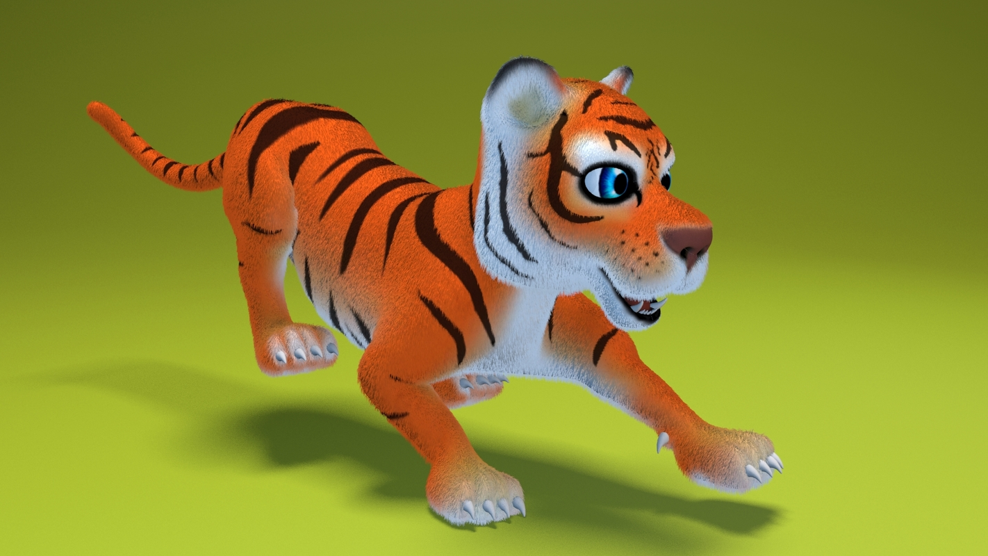 cat animation 3D model