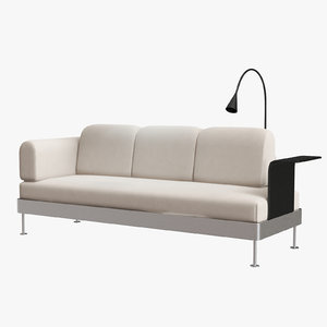 ikea delaktig 3-seat sofa interior 3D model