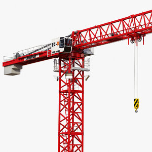 3D tower crane liebherr 250 model