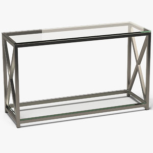 rectangle console table metal 3D model
