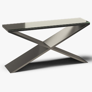 3D rectangle console table metal model