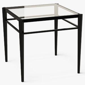 square end table metal 3D model