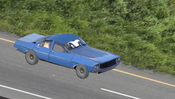 old classic car 3D model