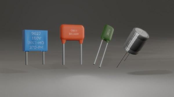 3D model capacitors