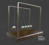 newtons pendulum cradle ball 3D model