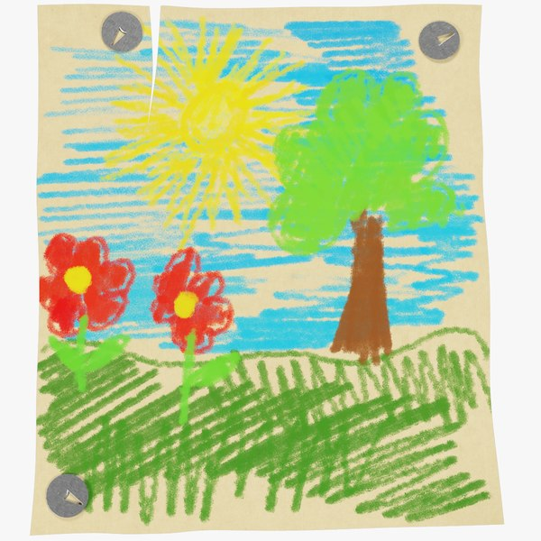 children s drawing 3D