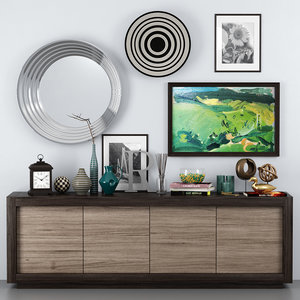 picasso sideboard - riflessi 3D model