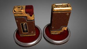 3D old vintage lighter