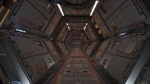 spaceship interior corridors 3D model