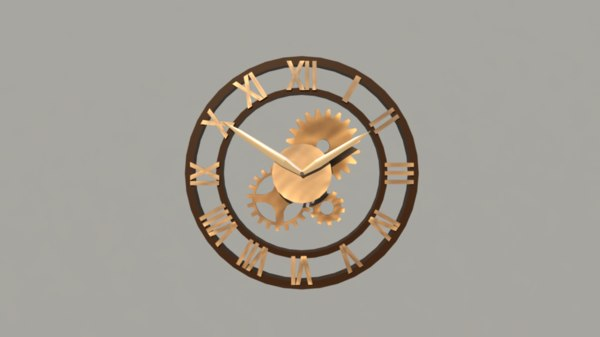 clock steampunk 3D model