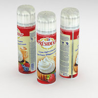 President Light Dairy Whipped Cream Can 250g