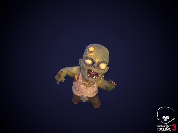3D zombie mini