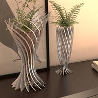 3D pair modern vase model