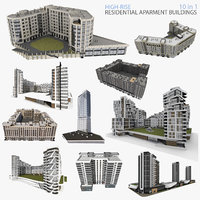 high-rise residential buildings 3D model