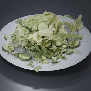 3D food sallad plate
