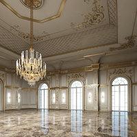 classic interior room scene 3D