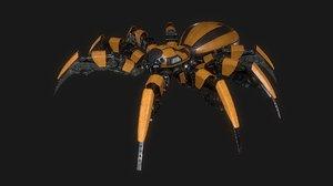 3d spider bot robot