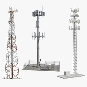 cellular towers cell 3D model